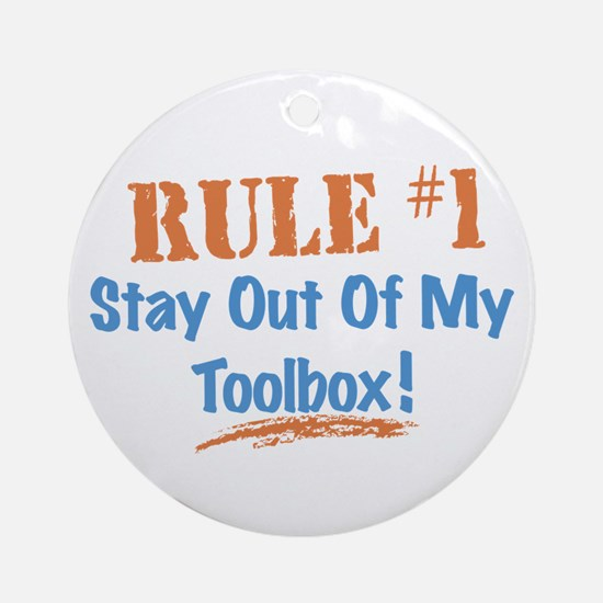 Toolbox Rules Ornament (Round)