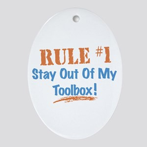 Toolbox Rules Ornament (Oval)