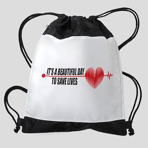 Grey's Anatomy Beautiful Day Drawstring Bag
