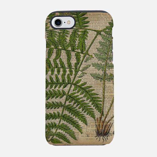 botanical fern leaves foliag iPhone 8/7 Tough Case