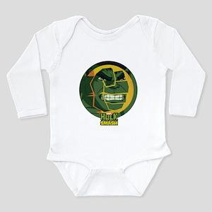 Hulk Smash Long Sleeve Infant Bodysuit