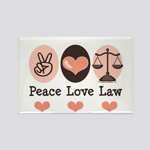 Peace Love Law School Lawyer Rectangle Magnet