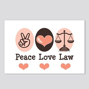 Peace Love Law School Lawyer Postcards (Package of