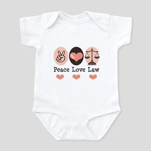 Peace Love Law School Lawyer Infant Bodysuit
