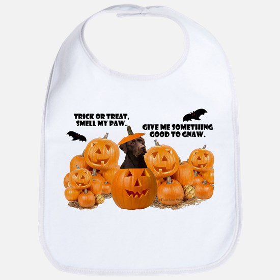 Trick Or Treat Chocolate Lab Bib