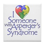 Someone w/Asperger's Tile Coaster