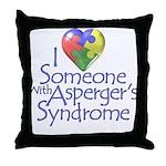 Someone w/Asperger's Throw Pillow