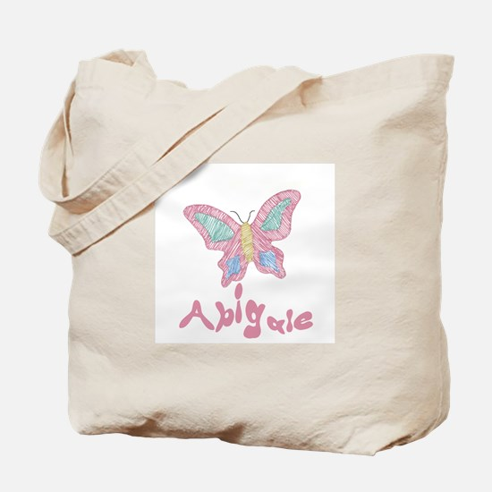 Pink Butterfly Abigale Tote Bag