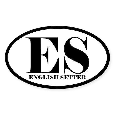ES Abbreviation English Setter Sticker