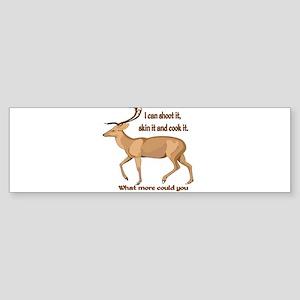 girl hunter Bumper Sticker