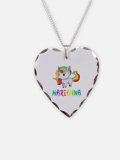 Cute Marianna Necklace Heart Charm
