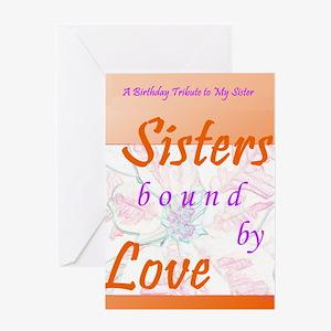 Sisters Birthday Tribute Greeting Card