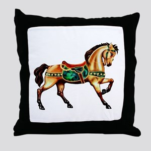 Malachite Carousel Throw Pillow
