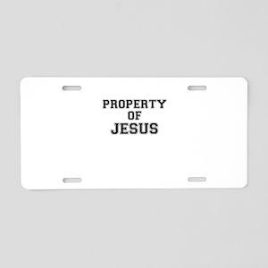 Property of JESUS Aluminum License Plate
