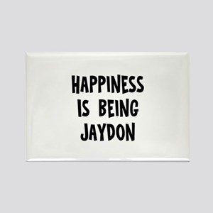 Happiness is being Jaydon Rectangle Magnet