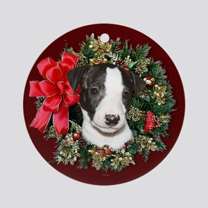 Whippet pup Ornament (Round)