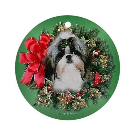Puppy Christmas Ornament (Round)