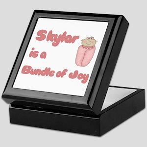 Skylar is a Bundle of Joy Keepsake Box