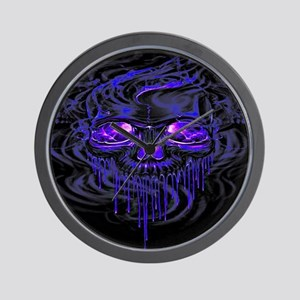 Purple Nerpul Skeletons Wall Clock
