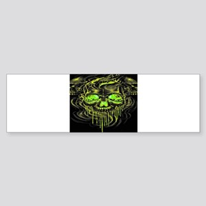 Glossy Yella Skeletons Bumper Sticker