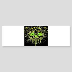 Glossy Yella Skeletons Bumper Sticker