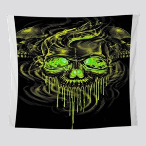 Glossy Yella Skeletons Wall Tapestry