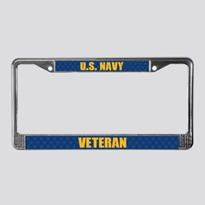 U.s. Navy Veteran License Plate Frame