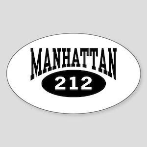 Manhattan 212 Oval Sticker