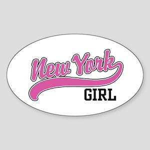 New York Girl Oval Sticker