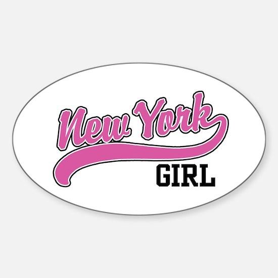 New York Girl Oval Decal