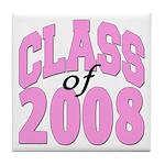 Class of 2008 ver2 Tile Coaster