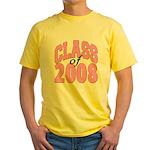 Class of 2008 ver2 Yellow T-Shirt