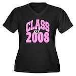 Class of 2008 ver2 Women's Plus Size V-Neck Dark