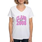 Class of 2008 ver2 Women's V-Neck T-Shirt
