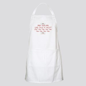 Deck the Hoes BBQ Apron