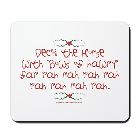 Deck the Horse Mousepad