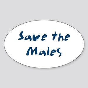 Save the Males Oval Sticker