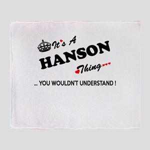 HANSON thing, you wouldn't understan Throw Blanket