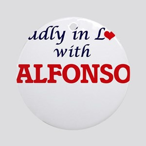 Madly in love with Alfonso Round Ornament