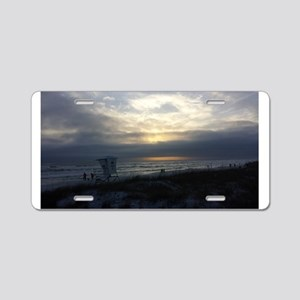 Destin Sunset Aluminum License Plate