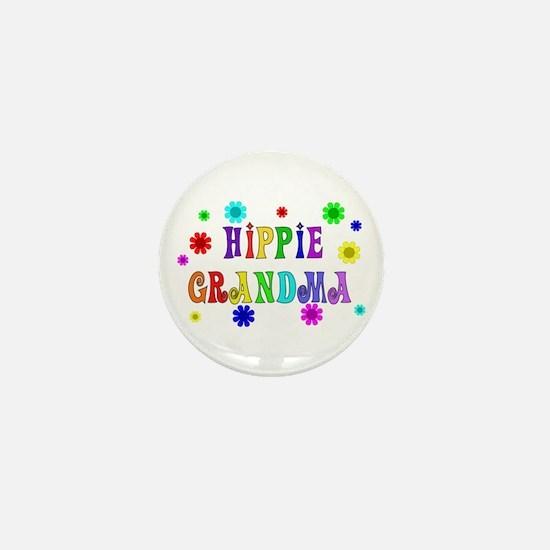 Hippie Grandma Mini Button