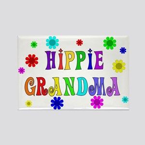 Hippie Grandma Rectangle Magnet