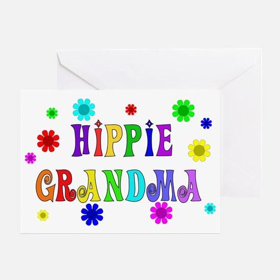 Hippie Grandma Greeting Card