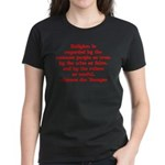 Religion is regarded by the c Women's Dark T-Shirt