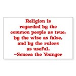Religion is regarded by the c Sticker (Rectangular