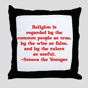Religion is regarded by the c Throw Pillow