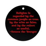 Religion is regarded by the c Ornament (Round)