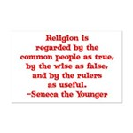 Religion is regarded by the c Mini Poster Print