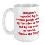Religion is regarded by the c Large Mug
