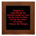 Religion is regarded by the c Framed Tile